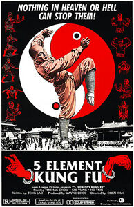 5 Element Kung Fu 1978 Movie Poster