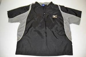 MIZUNO BASEBALL SOFTBALL BLACK WIND RAIN DRY FIT SHIRT YOUTH BOYS SIZE XL