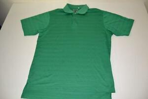 ADIDAS GOLF GREEN DRY FIT POLO SHIRT MENS SIZE MEDIUM M