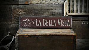 Custom Mountain Home Lodge Sign Rustic Hand Made Distressed Wooden ENS1000755
