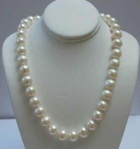Natural AAA+ ELEGANT 11-12 MM WHITE AKOYA PEARL NECKLACE 18