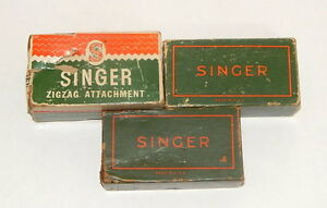 Lot of 3 EMPTY Singer Sewing Boxes $31.96