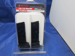 TWO Ruger Magazine Mag LC9 9mm 7 Rd Blued Finger Rest LC-9 clip LC9S 90642 EC9S