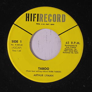 ARTHUR LYMAN: Taboo 45 Easy Listening
