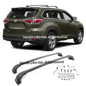For 14-Up Toyota Highlander LE Top Roof Rack Luggage Carrier Cross Bar Pair XU50