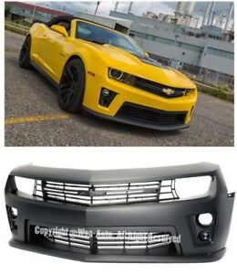 For 10-13 Camaro Real ZL1 Style Front Bumper Cover w Projector Fog