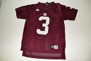 ADIDAS MISSISSIPPI STATE BULLDOGS PURPLE DRY FIT JERSEY SHIRT BOYS SIZE MEDIUM M