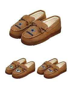 NFL Football Team Logo Warm Winter Moccasin Slippers Pick Your Team