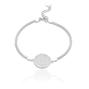 Spoke 925 Sterling Silver Jewelry Women'S Contemporary Bracelet #E-34