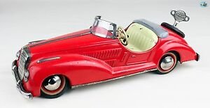 1950s german wind up toy red mercedes benz