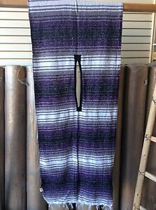 Mexican Falsa  Poncho , PURPLE  , one size fits all  , Traditional , Gaban