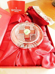 Waterford Crystal 2014 RED CROSS RESILIANCE Ornament - NEW / BOX!