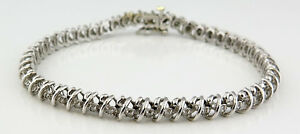 Women's Tennis Bracelet 14k White Gold 1.44 ctw Diamonds 7 12