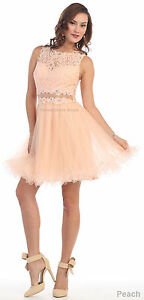 ABOVE KNEE SHORT COCKTAIL DRESS SEMI FORMAL SWEET 16 BIRTHDAY PARTY HOMECOMING