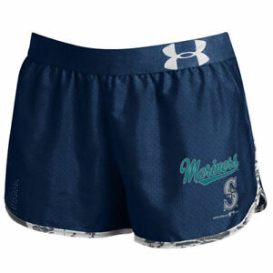 Women's Under Armour Navy Seattle Mariners Tied Up Performance Running Shorts