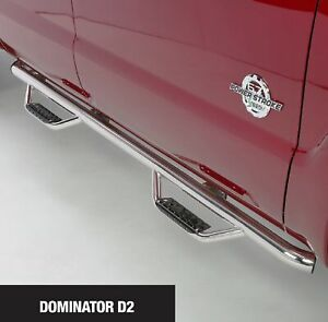 Go Rhino D24156PS Dominator D2 Polished Stainless Steps for Ford F-150 Supercab