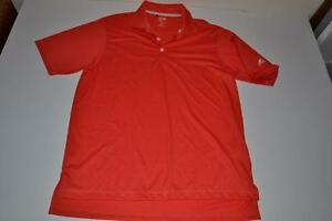 ADIDAS GOLF RED DRY FIT POLO SHIRT MENS SIZE MEDIUM M