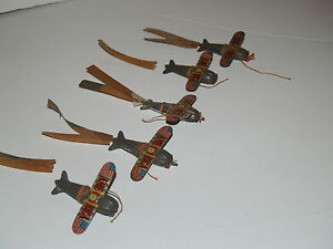 lot of 5 tin airplane zeppelin fuselage