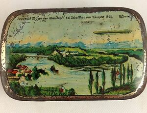 early airship candy tin germany 1908 lz4