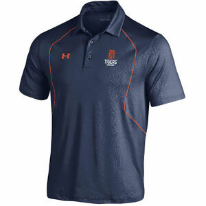 Detroit Tigers Under Armour Apex Performance Polo - Navy - MLB