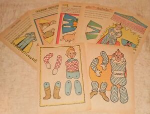 1951 puppet doll circus cut outs clarabell friends