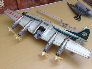 tinplate battery operated tn klm ph dsf airliner