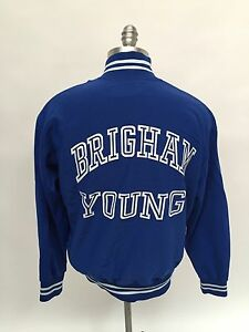 BYU Brigham Young University Track Sand Knit Medalist Jacket 1980s Player Worn