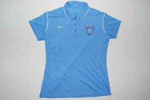 NEW Nike Dri-Fit Columbia University Lions - Light Blue Polo Shirt (L)