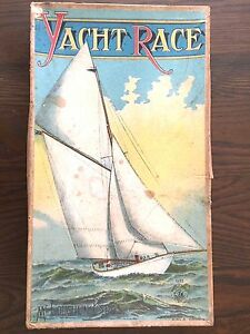 rare 1888 yacht race game bros excellent cond