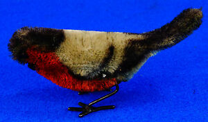 rare wind up mohair bird