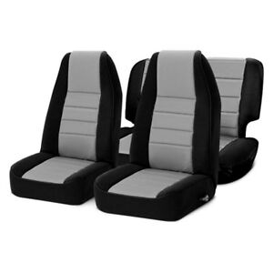 For Jeep Wrangler 03-06 Seat Covers Neoprene 1st & 2nd Row w Charcoal Center &