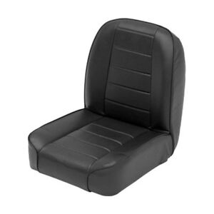 For Jeep CJ7 1976 Smittybilt Low Back Bucket Black Front Seat