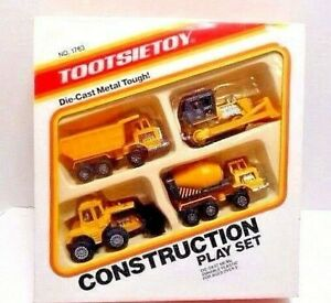 1987  Tootsie Toy  'Construction Play Set'  Die-Cast  Plastic  Item no. 1963