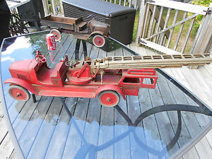 1924 buddy l aerial ladder truck extremely
