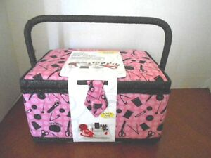 New Singer Sewing Basket with Notions Factory Sealed with Tags Large $45.00