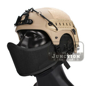 Tactical Airsoft Helmet Armour Face Protected Half Mask w Hook and Loop Panel