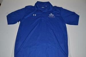 UNDER ARMOUR BLUE CAYMAN JACK MARGARITA DRY FIT POLO SHIRT MENS SIZE LARGE L
