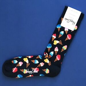 NWT Happy Socks Combed Cotton Knit Socks Assorted Colors amp; Prints Available