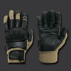 KEVLAR TACTICAL KHAKI GLOVES MILITARY POLICE FREE USA SHIPPING
