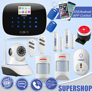 KERUI G19 GSM Home Alarm System WiFi IP Camera Pet Friendly Smart Socket Kit