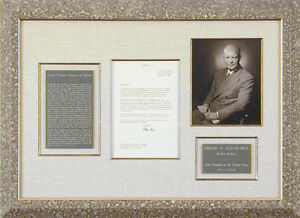 DWIGHT D. EISENHOWER - TYPED LETTER SIGNED 01161968