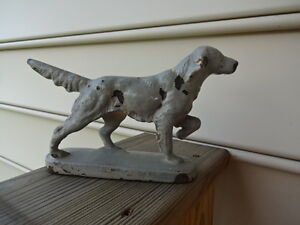 Old Vtg Cast Iron Pointer? Hunting Dog Walking Door Stop Stopper 7quot; x 5quot; $99.95