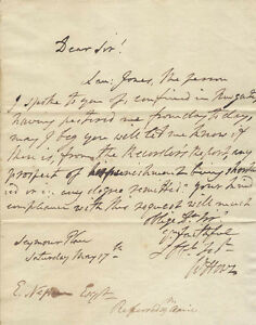WILLIAM HOWE - AUTOGRAPH LETTER SIGNED 05171788