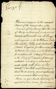 KING GEORGE II (GREAT BRITAIN) - MANUSCRIPT DOCUMENT SIGNED WITH CO-SIGNERS