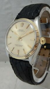 Rolex Oyster Perpetual 14kss Gold & SS Mens Watch Model 1003 1961