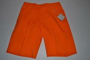 PUMA GOLF TECH  RICKIE FOWLER VIBRANT ORANGE DRY FIT SHORTS MENS SIZE 32 NEW