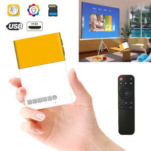 Mini Portable LCD Multimedia LED Projector Full HD 1080P USB HD MI AV TV VGA SD