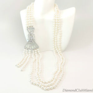 Ivanka Trump Lao Tong Collection South Sea Pearls & Diamond Necklace 18kt Gold