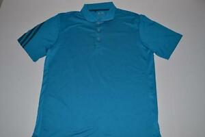 ADIDAS GOLF CLIMACOOL BLUE DRY FIT POLO SHIRT MENS SIZE MEDIUM M