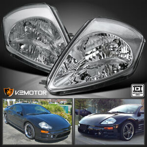 For 2000 2005 Mitsubishi Eclipse Clear Headlights Head Lamps LeftRight Pair $89.38